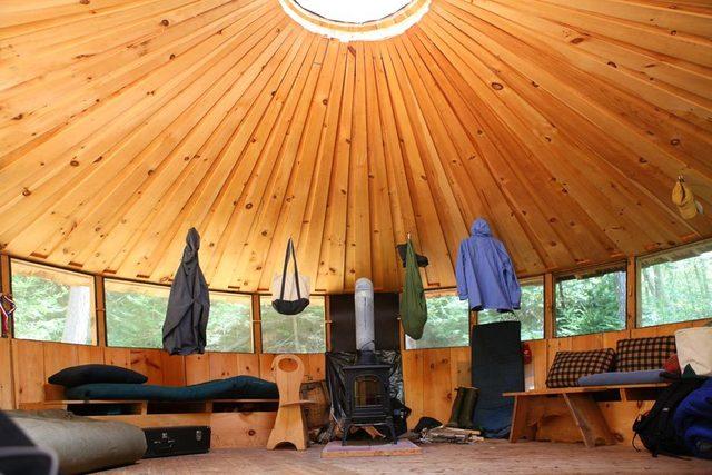 wooden yurt plans