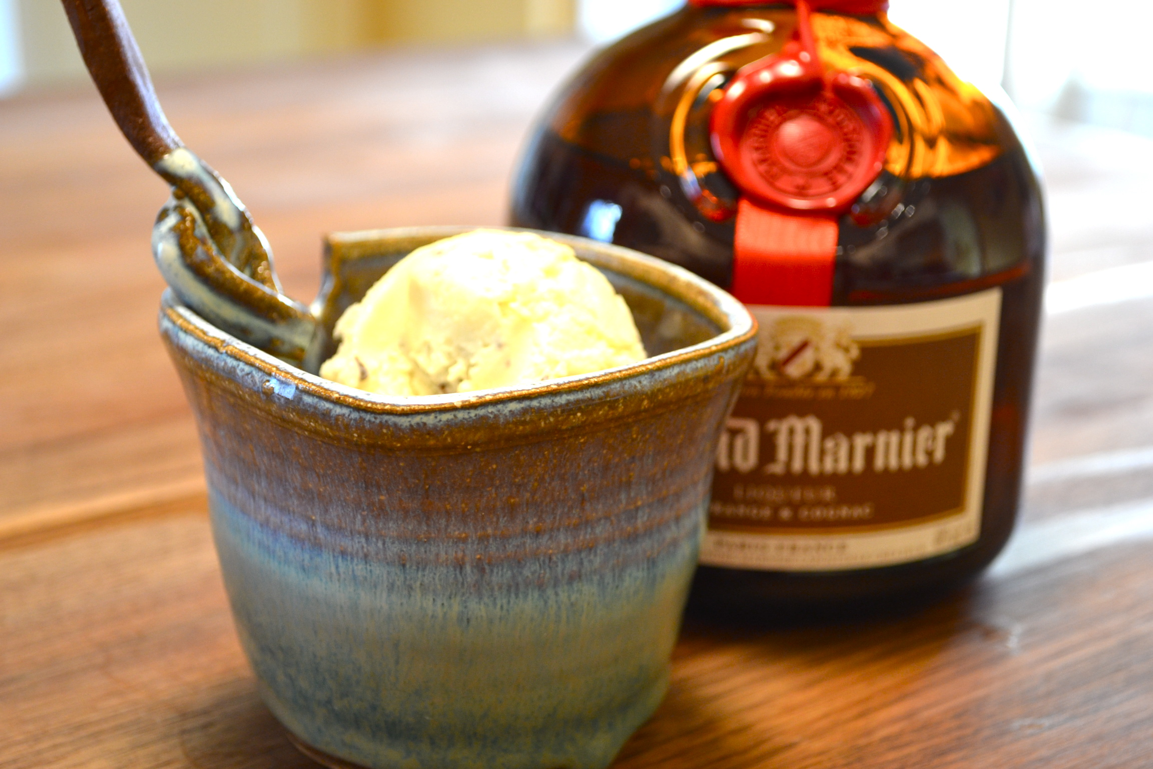 chocolate-studded Grand Marnier ice cream and a dark chocolate orange ...